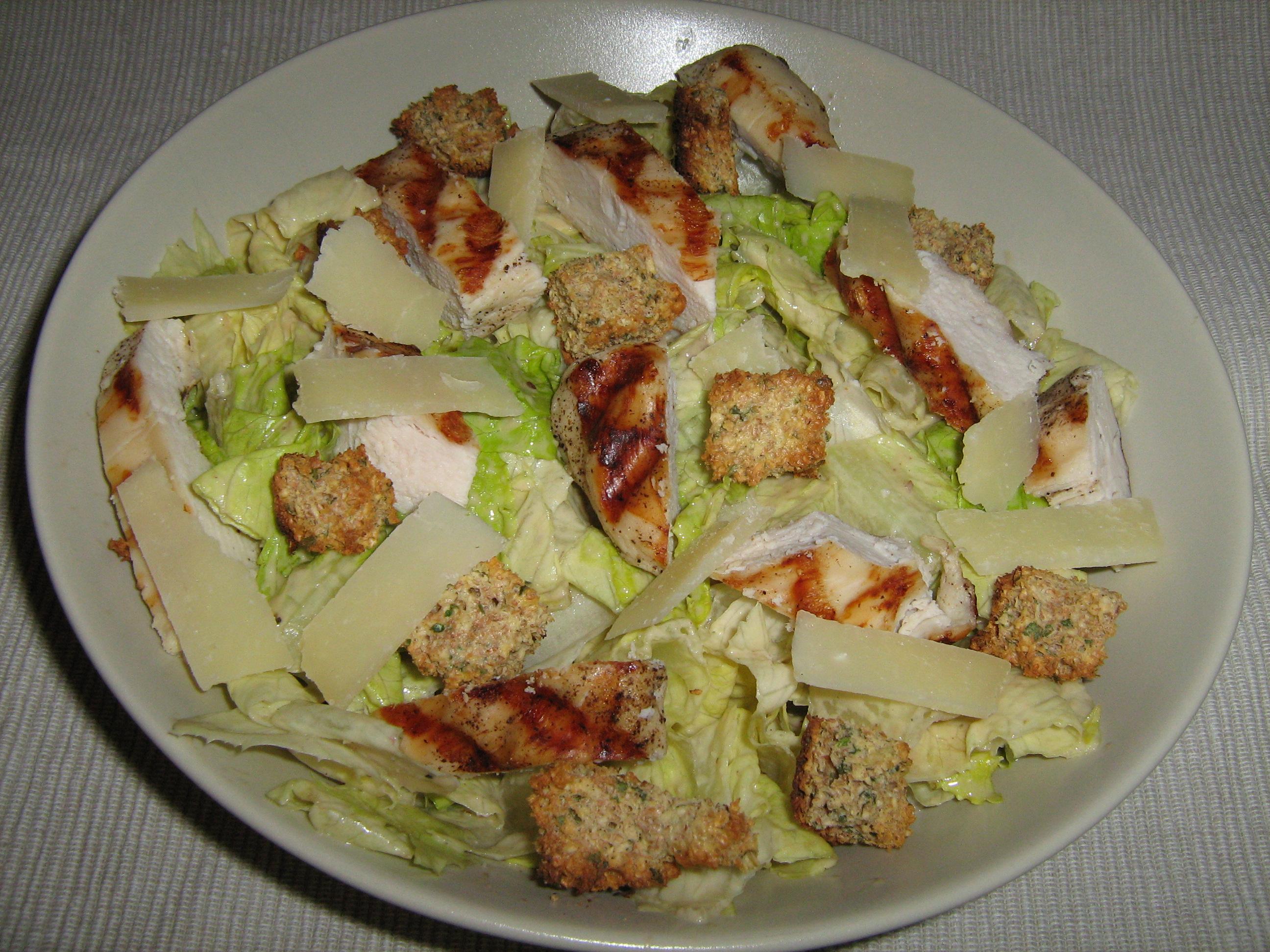 Salade c sar au poulet recettes dukan - Recette salade cesar au poulet grille ...