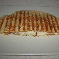 Sandwich panini au saumon